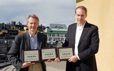 Hans Pohl, programchef, samt utvecklare av STINT Internationaliseringsindex och Andreas Göthenberg vd för STINT. Foto: STINT.